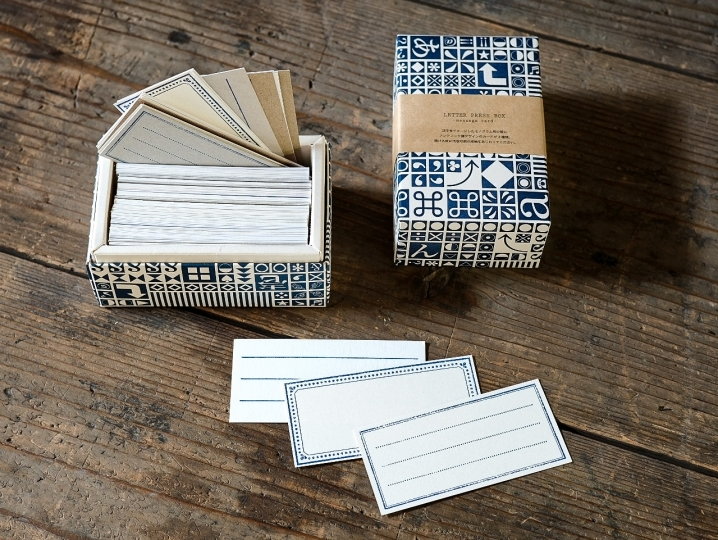 廃棄される紙を活用した活版印刷のメッセージカード
